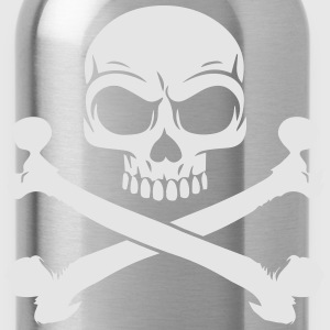Custom Pirate Skull & Crossbones Jolly Rogers Flag Zip Hoodies & Jackets - Water Bottle