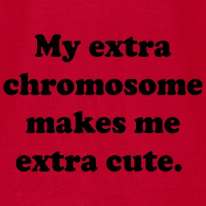 My extra chromosome makes me extra cute Baby & Toddler Shirts - Men's T-Shirt by American Apparel