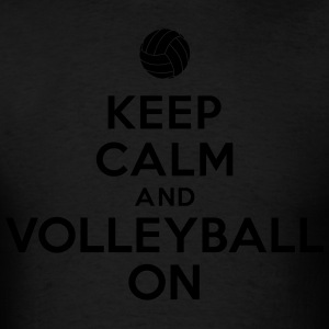 Keep calm and volleyball on Hoodies - Men's T-Shirt