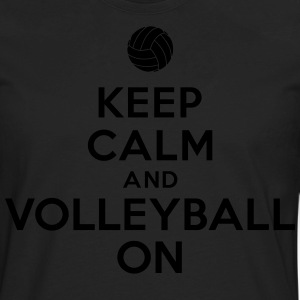 Keep calm and volleyball on Hoodies - Men's Premium Long Sleeve T-Shirt