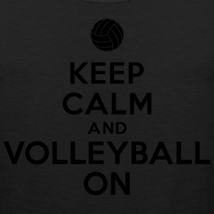 Keep calm and volleyball on Hoodies - Men's Premium Tank