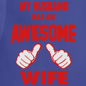 MY HUSBAND HAS AN AWESOME WIFE Women's T-Shirts - Adjustable Apron