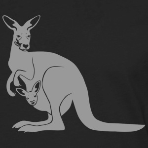kangaroo roo australia new zealand downunder T-Shirts - Men's Premium Long Sleeve T-Shirt