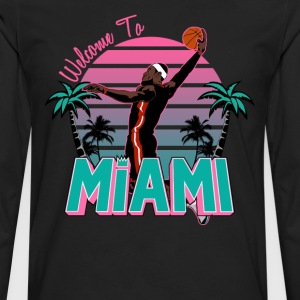 VICTRS Welcome to Miami South Beach Shirt - Men's Premium Long Sleeve T-Shirt
