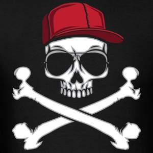 Skull & Crossbones Jolly Rogers Gangster Skull  Hoodies - Men's T-Shirt