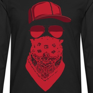 red blood gang member  T-Shirts - Men's Premium Long Sleeve T-Shirt