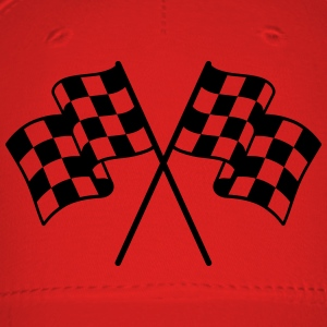Checkered Flag 1 color T-Shirts - Baseball Cap