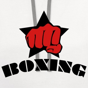 Boxing star fight club kick boxen box 2c Mens Tee - Contrast Hoodie