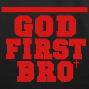 GOD FIRST BRO Women's T-Shirts - Eco-Friendly Cotton Tote
