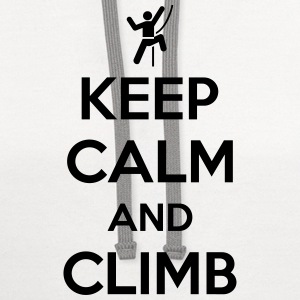 Keep calm and climb T-Shirts - Contrast Hoodie
