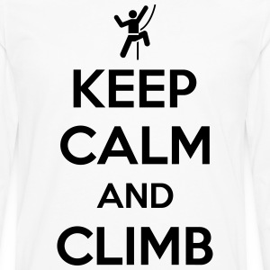 Keep calm and climb T-Shirts - Men's Premium Long Sleeve T-Shirt