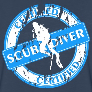 Certified Scubadiver T-Shirts - Men's Premium Long Sleeve T-Shirt