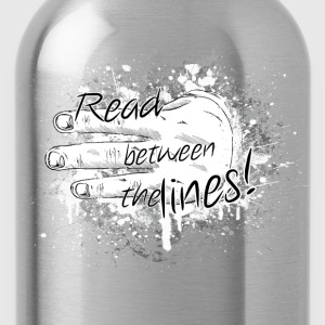 read between the lines T-Shirts - Water Bottle