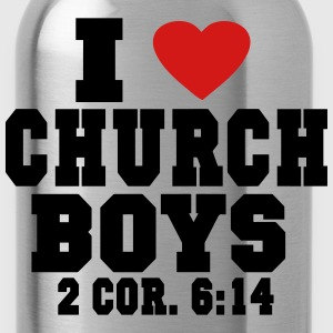 I LOVE CHURCH  BOYS Women's T-Shirts - Water Bottle