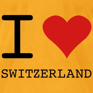 I LOVE SWITZERLAND - Men's T-Shirt by American Apparel