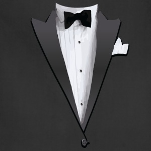 Tuxedo Jacket Costume T-shirt Long Sleeve Shirts - Adjustable Apron