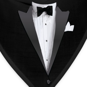 Tuxedo Jacket Costume T-shirt Long Sleeve Shirts - Bandana