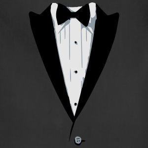 Custom Color Tuxedo Tshirt Long Sleeve Shirts - Adjustable Apron