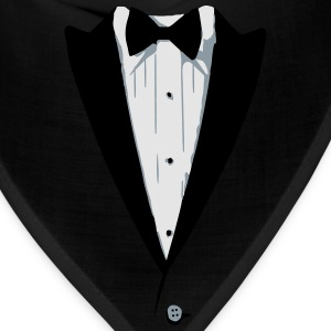 Custom Color Tuxedo Tshirt Long Sleeve Shirts - Bandana
