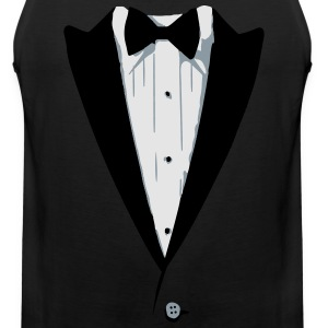 Custom Color Tuxedo Tshirt Long Sleeve Shirts - Men's Premium Tank