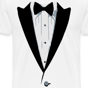 Custom Color Tuxedo Tshirt Long Sleeve Shirts - Men's Premium T-Shirt