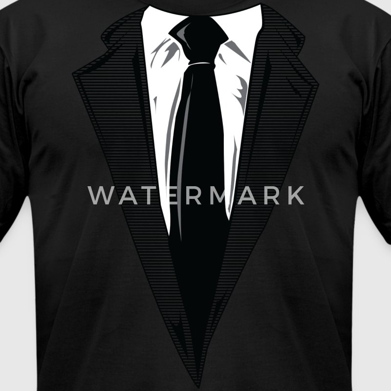 Coat and Tie and Suit and Tie t-shirts T-Shirts - Men's T-Shirt by American Apparel