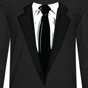 Coat and Tie and Suit and Tie t-shirts T-Shirts - Men's Premium Long Sleeve T-Shirt