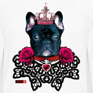 French Bulldog black King lace collar Roses Dog De - Men's Premium Long Sleeve T-Shirt
