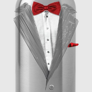 bow tie sear sucker tuxedo Long Sleeve Shirts - Water Bottle
