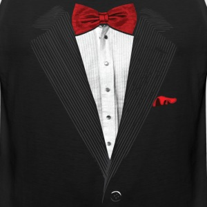 bow tie sear sucker tuxedo Hoodies - Men's Premium Tank