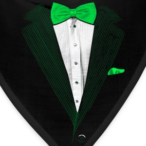 St.Patrick's Day Green Tuxedo Costume Long Sleeve Shirts - Bandana