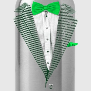 St.Patrick's Day Green Tuxedo Costume Long Sleeve Shirts - Water Bottle