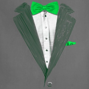 St.Patrick's Day Green Tuxedo Costume Women's T-Shirts - Adjustable Apron