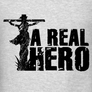 Jesus, A Real Hero Sweatshirts - Men's T-Shirt