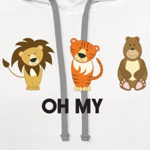 Lions, Tigers, Bears. Oh My! Baby & Toddler Shirts - Contrast Hoodie