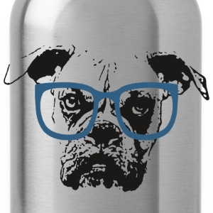 Dog In Glasses - Water Bottle