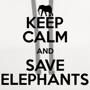 keep calm and save elephants T-Shirts - Contrast Hoodie