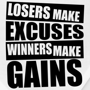 Losers make excuses, winners make gains Gym T-Shir T-Shirts - Bandana