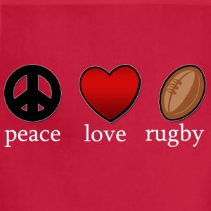 Peace Love Rugby Dark T-Shirt - Adjustable Apron