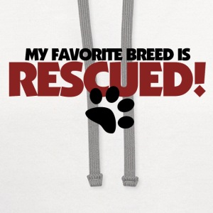 Rescue Dogs are awesome - Contrast Hoodie