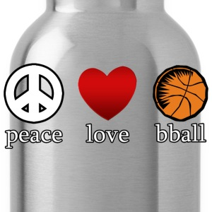 Peace Love Basketball T-Shirt - Water Bottle