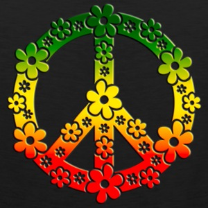 Reggae Peace Symbol Love Freedom Flower Summer Women's T-Shirts - Men's Premium Tank