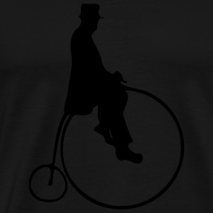 Penny Farthing With Rider Hoodies - Men's Premium T-Shirt