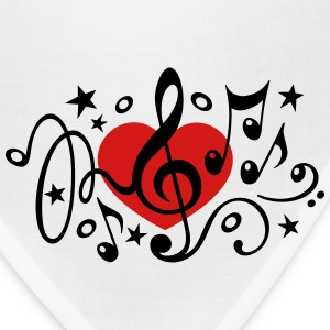 Music heart note I love classic choir star clef  Hoodies - Bandana