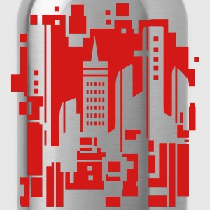 Cityscape Design Hoodies - Water Bottle