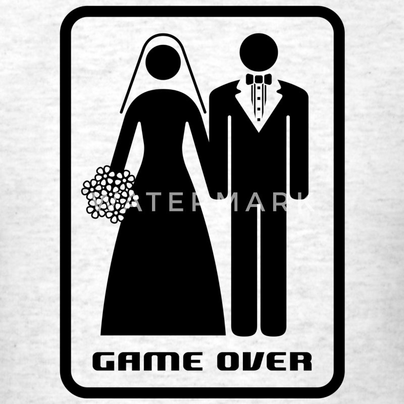GAME OVER (HATE MARRIAGE) - Men's T-Shirt