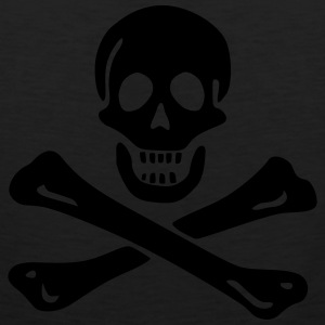 Jolly roger Pirate flag T-Shirts - Men's Premium Tank