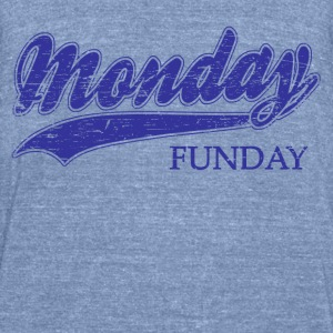 monday funday Long Sleeve Shirts - Unisex Tri-Blend T-Shirt by American Apparel