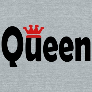 Queen with Crown Graphic Sportswear - Unisex Tri-Blend T-Shirt by American Apparel