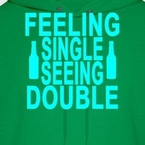 feeling_single_seeing_double_ - Men's Hoodie